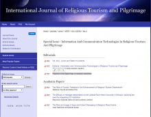 Information And Communication Technologies In Religious Tourism And Pilgrimage